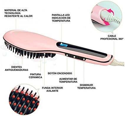 AGV - Cepillo Alisador Perfect Liss Brush - Rojo: Amazon.es: Belleza