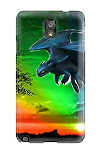 Premium Protection Colorful Toothless Dreamworks Animation Case Cover For Galaxy Note 3- Retail Packaging