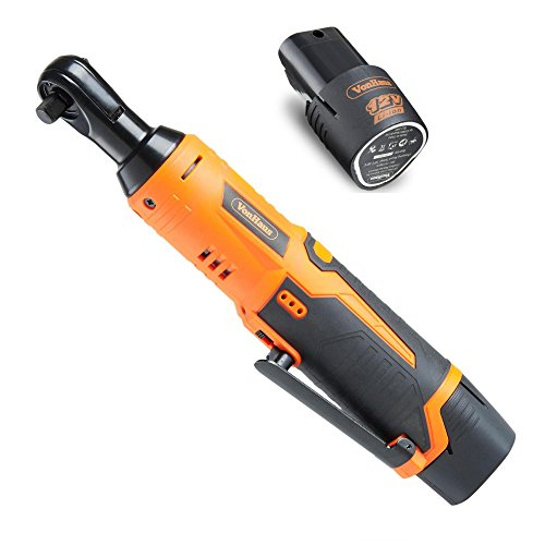 "VonHaus Cordless Electric Ratchet Wrench Set with 12V Lithium-Ion Battery and Charger Kit 3/8"" Drive 15/145US"