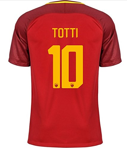 fan products of TOTTI 10 AS Roma 2017/2018 Soccer Jersey Home Mens Size S