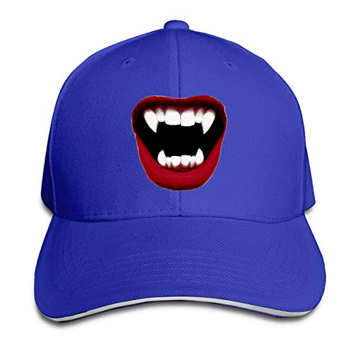 Arbitrary Shop Tooth Decay, Vampire Fashion Pattern Adjustable Sandwich Cap Hip Hop for Men and Women -