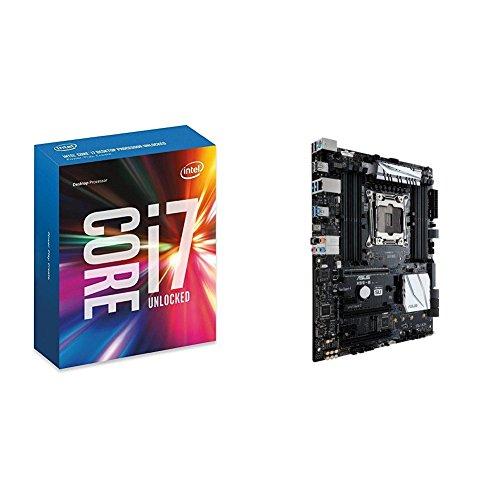 Intel Boxed Core i7-6850K Processor (15M Cache, up to 3.80 GHz) FC-LGA14A 3.6 6 BX80671I76850K and ASUS X99-E LGA2011-v3 5-Way Optimization SafeSlot Aura RGB ATX Motherboard