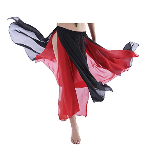 Black Maxi Skirt Plus Size Beach Skirt Bellydance Skirt for Women Costumes 4 6 8 10 12 -