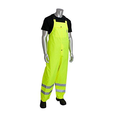 (PIP 353-2001-LY/XL ANSI Class E Heavy Duty Waterproof Breathable Bib)