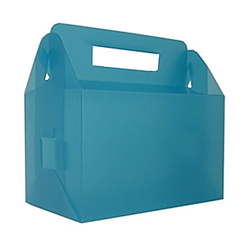 JAM Paper Plastic Lunchbox - 4 3/4'' x 7 3/4'' x 4 3/4'' - Blue Frost - 100/pack by JAM Paper