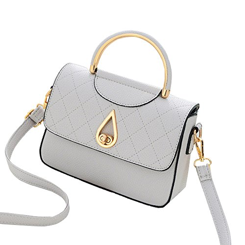 Bag Messenger Bag PU FLHT Shoulder Lightgray Bag Summer Women's Tote 1BY80q