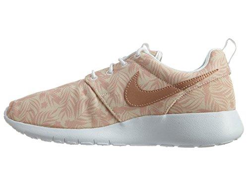 Nike Roshe One Print (Gs), Zapatillas de Running Niñas Blanco (Pearl White / Mtlc Red Bronze)
