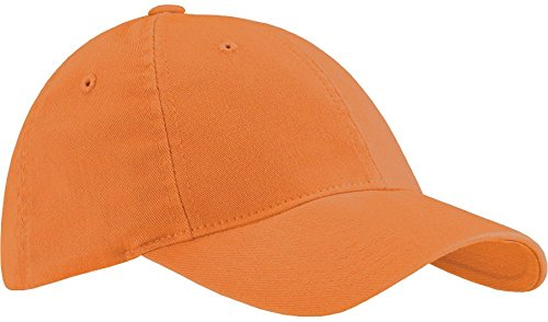 - Yupoong Flexfit Garment Washed 6-Panel Cotton Twill Cap, Orange, Small / Medium