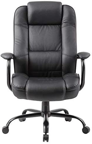 Boss Office Products Heavy Duty Executive Chair with 350lbs Weight Capacity in Black