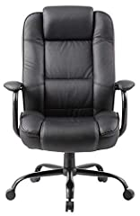 "The Boss B992-BK Heavy Duty Executive Chair is an ideally suited chair for home or office use. The professional look fits any formal office setting. Its large size makes this a ""big man's chair"" with dimensions that measure 30.5"" W x 27"" H x ..."