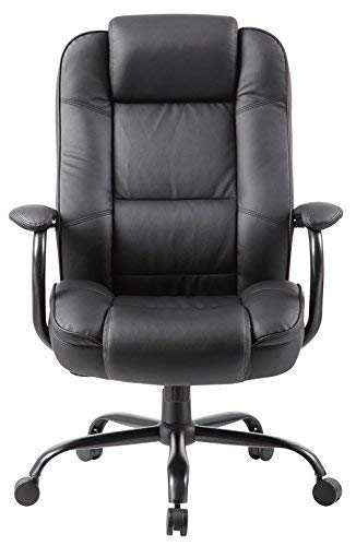 Boss Office Products B992-BK Heavy Duty Executive Chair with 350lbs Weight Capacity in Black