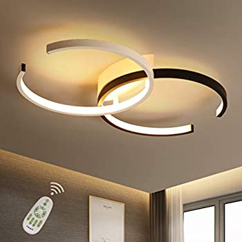 Ceiling Lights & Fans Ceiling Lights Fashion Style Led Ceiling Lights For Living Room Modern Panel Lamp Lighting Fixture Bedroom Kitchen Surface Mount Remote Control Ceiling Lamps Fine Workmanship