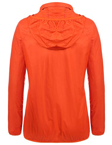 Trudge Para F Impermeable Abrigo orange Mujer rBw6rR
