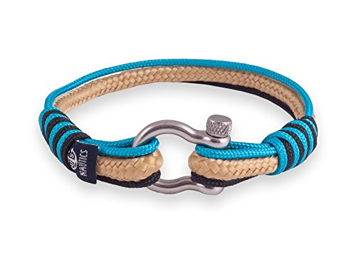 Miami Breeze Nautical Bracelets By U.S. Nautics- Beautiful Bracelets Made of Yachting Rope- Wide Variety of Different Designs & Colors-With Stainless Steel Buckle- Great Gift Idea For Men & Women (Sailor Outfits For Men)