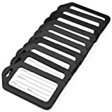 ANBANA 10 pcs Black Plastic Travel Accessories Square-shape Luggage tag / Identifier with Name Card