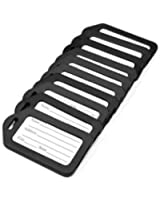 ANBANA @ 10 pcs Black Plastic Travel Accessories Square-shape Luggage tag / Identifier with Name Card