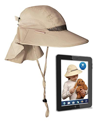 Kids' Play Hat Sun Protection Cap UPF 50+ Outdoor Safari w/Neck Cover