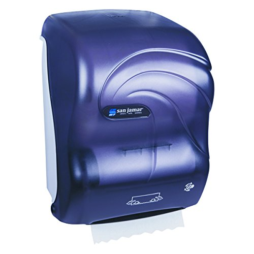 Simplicity Paper Towel - San Jamar T7090TBK Simplicity Hands-Free Mechanical Roll Towel Dispenser, Oceans, Black Pearl