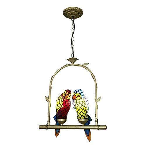 - Tiffany Style Parrot Pendant Lamp, 16