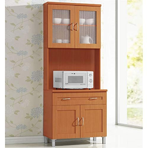 Pemberly Row Kitchen Cabinet in Cherry by Pemberly Row