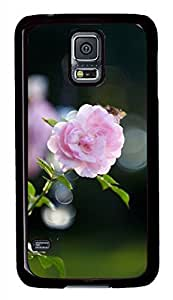 Pink Rose Bokeh Black Hard Case Cover Skin For Samsung Galaxy S5 I9600