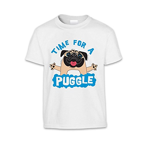 The T-Shirt Factory T-shirt Time For A Puggle - Enfant mixte Rouge