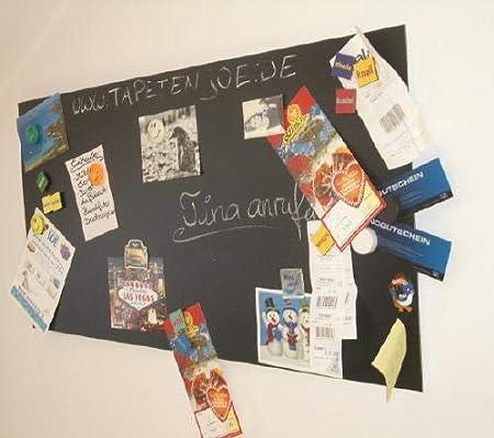 KaRoFoilFIX Selbstklebende und magnetische Vinyl- Tafelfolie in verschiedenen Gr/ö/ßen inkl 100x60 cm Kreidestift Kreidetafel Selbstklebefolie l Memoboard Farbe: schwarz