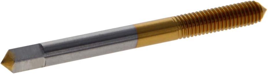 Utoolmart M2 Machine Tap Titanium Coated High Speed Steel Machine Screw Tap Taps Drill for Metal Threading 1pcs