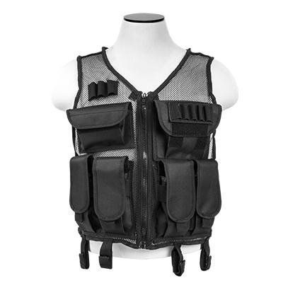 NcSTAR CMTV2951B Vism Lightweight Mesh Tactical Vest Black, M-XL