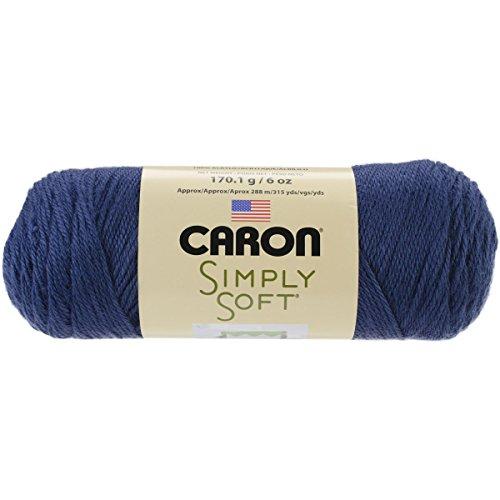 Caron Simply Soft Yarn, 6 Ounces/315 Yards, Dark Country Blue, Single Ball