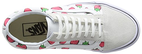 Basses White True Skool Taille Strawberries Unique Baskets Marron Vans U Adulte Mixte Blanc Old FqAw4I