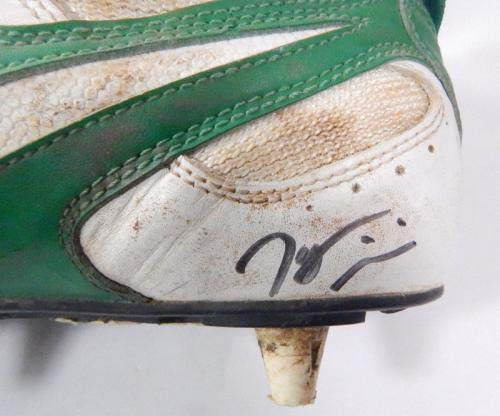 Tyrone Williams Signed Playoff Used Football Shoe Packers Auto Autographed NFL Cleats