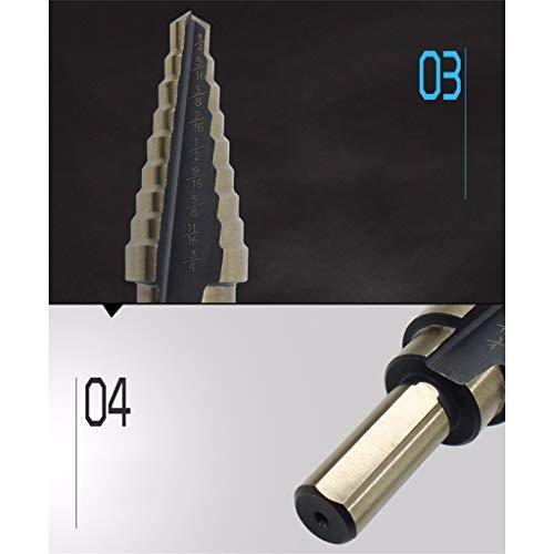DEESEE(TM) - Juego de 5 brocas de titanio con agujero grande ...
