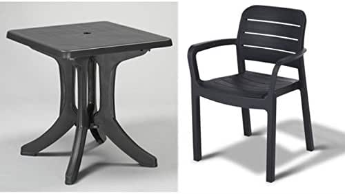 Tepro – Conjunto de muebles de jardín Napoli y tisara Antracita: Amazon.es: Jardín