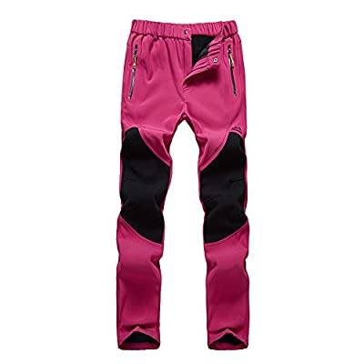 Women Fleeced Snow Hiking Pants Water Repellent Windproof Outdoor Sports Softshell Winter Pants