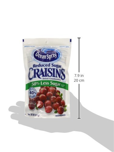 Ocean Spray Reduced Sugar Craisins Dried Cranberries 5 Oz ...