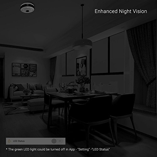 360 Degree Panoramic Camera WiFi Indoor IP Camera with Clear Night Vision 2-way Audio Motion Detection 960P Home Security Camera System for Baby Kids with iOS/Android APP for Remote Monitoring by TimeOwner (Image #7)