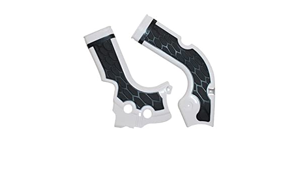 Acerbis X-Grip Frame Guards Silver//Black for Yamaha YZ250FX 2015-2018