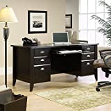 Sauder Shoal Creek Executive Desk, Jamocha Wood