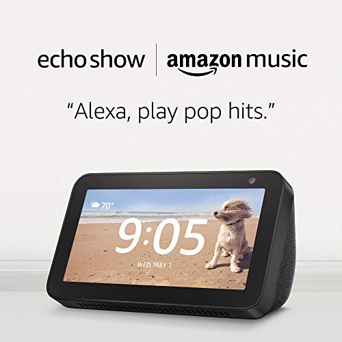 Echo Show 5 – Charcoal and 4 months of Amazon Music Unlimited FREE w/ autorenewal