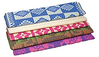 Truvic Homemarket Plastic Mats/Multipurpose Chatai for Home Floor Decor, 6 X 9 ft, Large, Multi-coloured