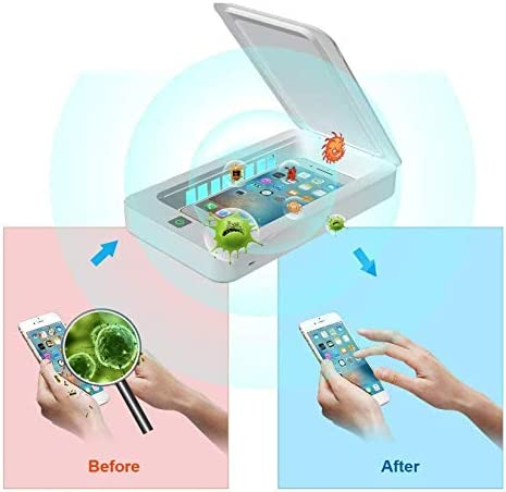 Phone Jewelry Toothbrush Glasses Watches Salon Tools Cleaner Case Portable UV Light Sterilizer,Aromatherapy Function Disinfector UV Cell Phone Sanitizer