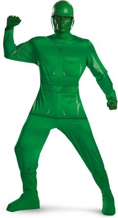 Deluxe Green Army Man Costume - Standard Adult - Chest Size (Army Costumes For Adults)
