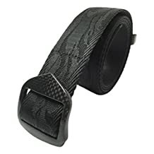NEW Carbon Fiber Metal Free Black Belt Security Friendly Durable Rip Resistant