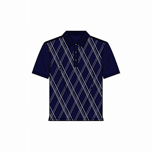 - Page & Tuttle Diagonal Print Jersey Shirt (Dark Navy, XL)