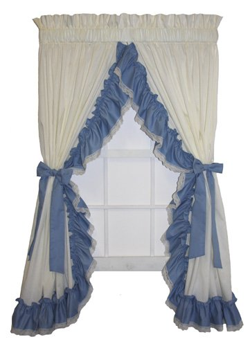 Madelyn Ruffled Priscilla Window Curtain with Bow Tie Bac...