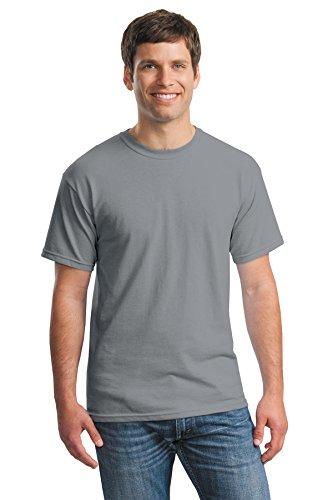 - Gildan mens Heavy Cotton 5.3 oz. T-Shirt(G500)-GRAVEL-XL-10PK