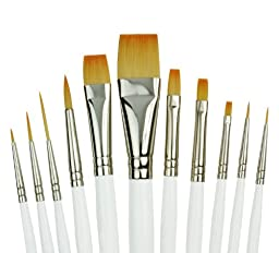 Royal Gold Royal and Langnickel Short Handle Paint Brush Set, Beginner Variety, 11-Piece