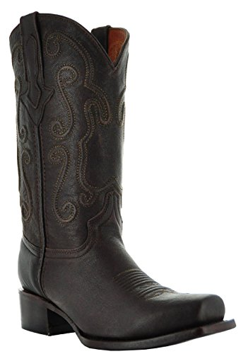 Ridgeline Mens Cowboy Boots by Soto Boots Dark Brown WtubadcK