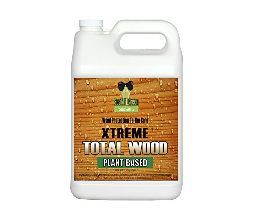 Seal It Green Extreme Total Wood Is A Plant Based, Non-Toxic Wood Sealer That Protects All Wood Types From Rot, Cupping, Cracking And Damage From Insects And The Sun. Protection Lasts 15+ (Brazilian Teak Natural)